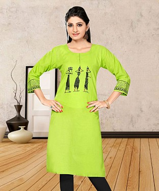 PARROT PRINTED COTTON STITCHED KURTI @ Rs555.00