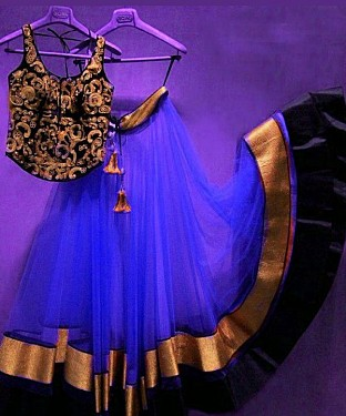 Thankar Blue Latest Arrival Designer Lehenga Choli @ Rs1050.00