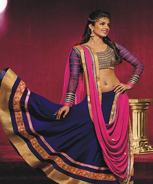 Navy Blue Latest Arrival Designer Lehenga Choli @ Rs1359.00