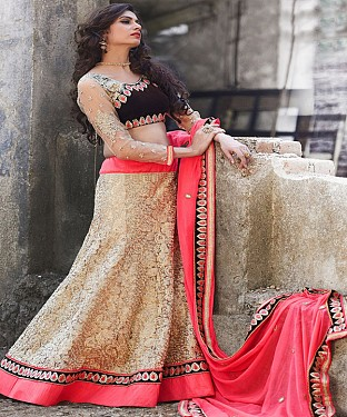 Latest Arrival Designer Beige Lehenga Choli @ Rs2100.00