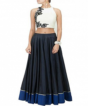 Latest Arrival Designer Navy Blue Lehenga Choli @ Rs1050.00