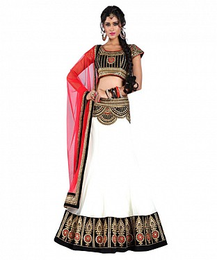 Latest Arrival Designer WHITE Lehenga Choli @ Rs1112.00