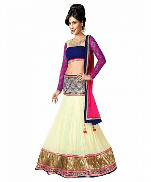 Latest Arrival Designer Off White Lehenga Choli @ Rs2100.00