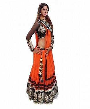Latest Arrival Designer Orange Lehenga Choli @ Rs1112.00