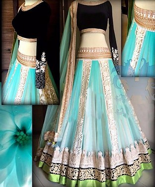 Latest Arrival Designer Sky Lehenga Choli @ Rs2286.00