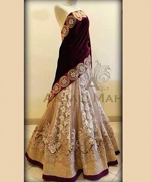 Maroon And White Latest Arrival Designer Lehenga Choli @ Rs2780.00