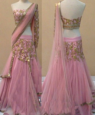 Pink Latest Arrival Designer Lehenga Choli @ Rs2966.00