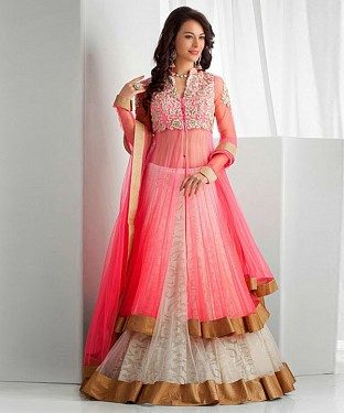 Latest Arrival Designer PINK & WHITE Lehenga Choli @ Rs1112.00