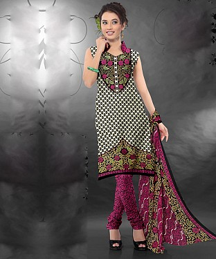 Multy Printed Crepe Dress Material @ Rs679.00