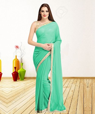 AQUA CASUAL DESIGNER SAREE @ Rs1050.00