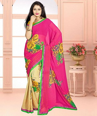 MULTY PRINTED GEORGETTE SAREE@ Rs.864.00