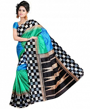 MULTY PRINTED BHAGALPURI SAREE @ Rs679.00