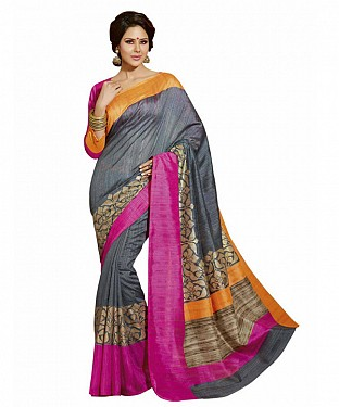 MULTY PRINTED BHAGALPURI SAREE Buy Rs.679.00