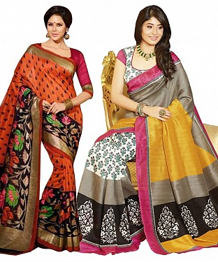 COMBO ONE MULTI PRINTED SAREE AND MULTY PRINTED SAREE@ Rs.926.00