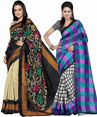 COMBO ONE MULTI PRINTED SAREE AND MULTY PRINTED SAREE @ Rs926.00