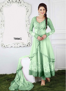 New Soft Green Jacket Style Long Anarkali Salwar Kameez @ Rs1235.00