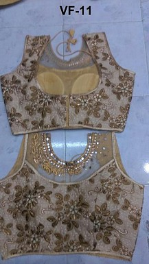 Panchi Golden Banglori Silk Embroidered Stitched Blouse@ Rs.876.00