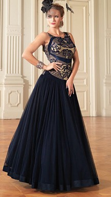 New Dark Blue Net Designer Anarkali Suit @ Rs3940.00