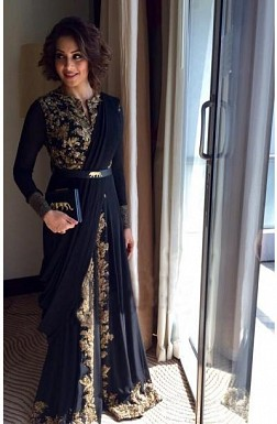 Black Georgette Designer Anarkali Suit@ Rs.3730.00