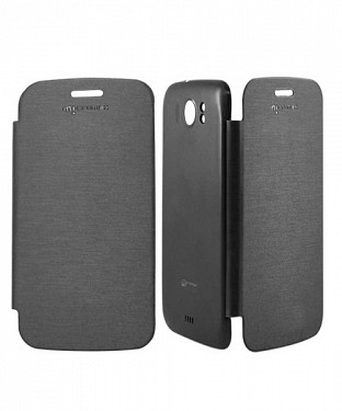 Black Flip Cover for Micromax Canvas 2 A110 @ Rs123.00