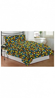 Bombay Dyeing Blue Polyester Double Bedsheet With 2 Pillow Covers @ Rs823.00