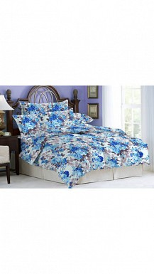 Bombay Dyeing Bluebird Double Bedsheet With 2 Pillow Cover @ Rs1132.00