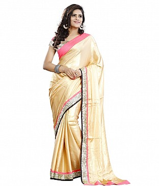 Style Sensus Gold Faux Georgette Saree @ Rs2349.00