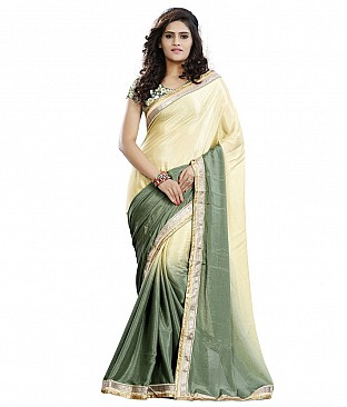 Style Sensus Beige Faux Georgette Saree @ Rs2318.00
