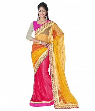 Style Sensus Yellow Net Saree @ Rs2883.00
