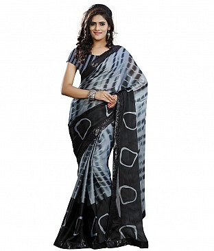 Embroidered Saree With Blouse Piece  Faux Georgette @ Rs1750.00