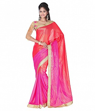 Embroidered Saree With Blouse Piece  Faux Georgette @ Rs2372.00