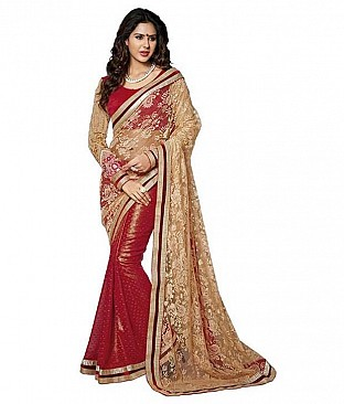 Aashi Multi Color Faux Georgette Saree @ Rs3348.00