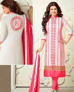 Salwar kameez & Churidar suits Dupatta with Embrodery Work Buy Rs.647.00