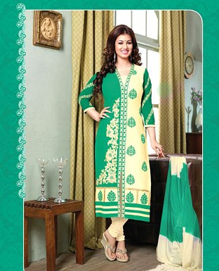 Embroidered Cotton Suit with Dupatta@ Rs.647.00