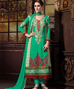 Latest Designers Semi Stitched Salwar Suits Buy Rs.2059.00