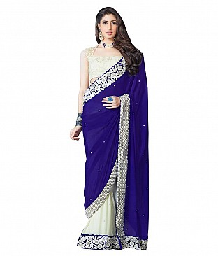 Ujjwal Creation Embroidered Pure Georgette Saree With Blouse Piece @ Rs4016.00