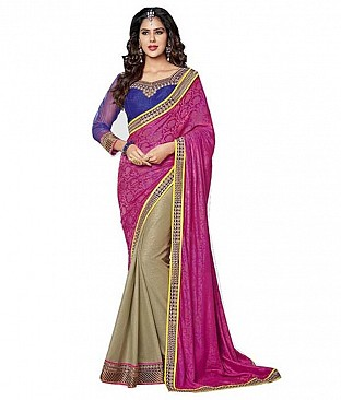 Aashi Embroidered Faux Chiffon Saree With Blouse Piece @ Rs3348.00