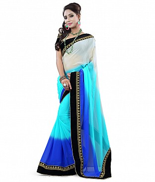 Embroidered Faux Georgette Saree With Blouse Piece @ Rs1544.00