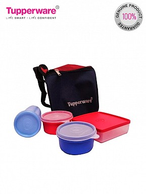 Tupperware Best Lunch Set, 4-Pieces and Lunch Bag @ Rs801.00