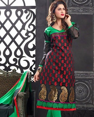 Charming Look Banarasi jacquard Designer Suit Buy Rs.572.00