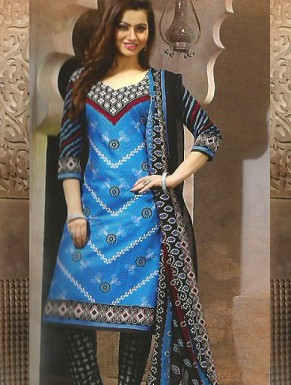 Desginer Cotton Suit with Dupatta@ Rs.300.00