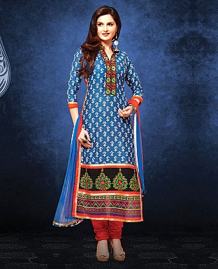 Printed Cotton Suit with Dupatta Buy Rs.1029.00