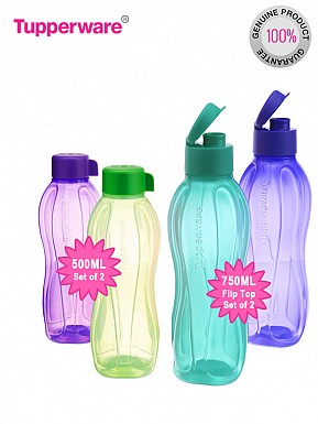 Tupperware FlipTop Water Bottle 2 Set, 750ml,  2 Set 500ml @ Rs802.00