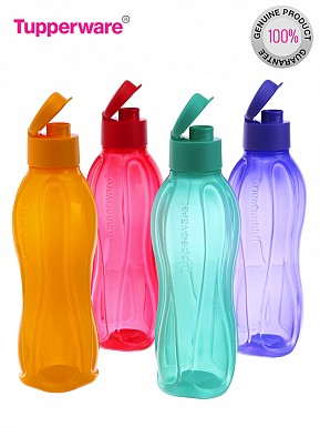 Tupperware FlipTop Water Bottle Set, 750ml, Set of 4@ Rs.814.00
