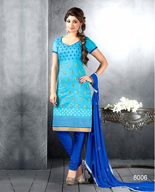 Chanderi Cotton Embroidered Salwar Suit@ Rs.744.00