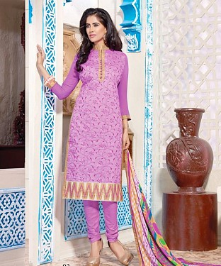 Chanderi Cotton Salwar Kameez with Dupatta @ Rs629.00