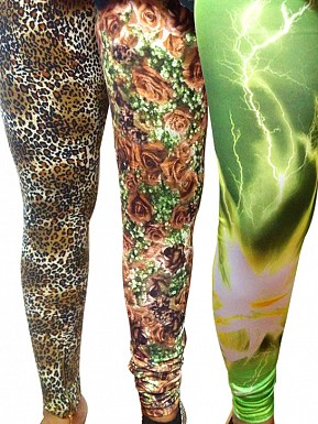 Modern Stretchable Legging with Ankle Zipper - Set of 3 Buy Rs.926.00