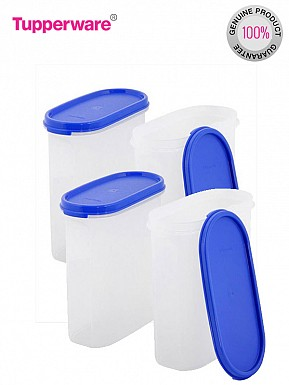 Tupperware Modular Mates Oval 3 Container Set, 1.7 Litres, 4-Pieces @ Rs1611.00