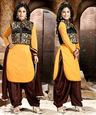 Embroidered Chanderi Cotton Salwar Suit@ Rs.1029.00