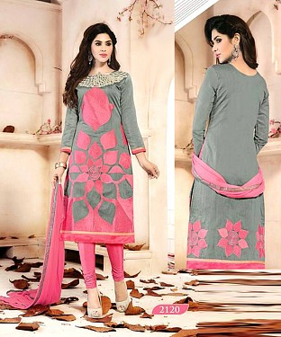 Embroidered Chanderi Cotton Salwar Suit @ Rs1029.00
